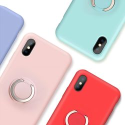 스마트링링거치대실리콘케이스iPhone8Plus