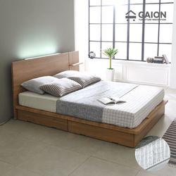 팅클 LED 평상서랍형 침대 Q 포켓매트리스