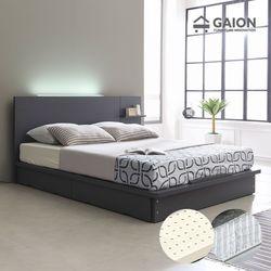 팅클 LED 평상서랍형 침대 Q 라텍스포켓20T