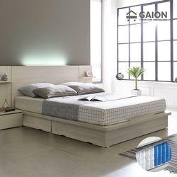 팅클 LED 평상서랍형 침대 Q 7존 포켓매트리스