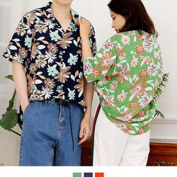 커플시밀러룩 썸머 하와이안셔츠