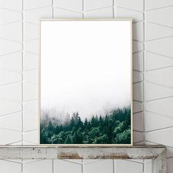 숲 풍경 그림 인테리어 액자 A3 포스터
