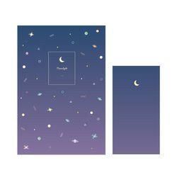 1000 편지지-우주패턴(퍼플)