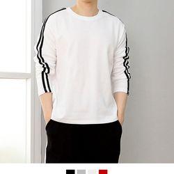 커플시밀러룩 더블라인 티셔츠
