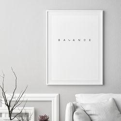 밸런스 글귀 액자 레터링 A3 포스터