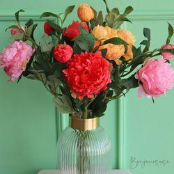 행운을 부르는 모란꽃 (3color) - 실크플라워 인테리어조화