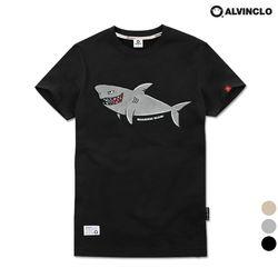 앨빈클로 공용 상어 패치 자수 반팔티셔츠 AST3779
