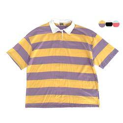 MACARON STRIPE POLO SHIRT(3color)(unisex)