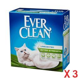 (3개묶음)에버크린 UN 고양이모래(무향) 6.35kg