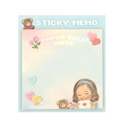 Paper doll mate Square Sticky memo Alice