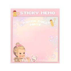 Paper doll mate Square Sticky memo Julie