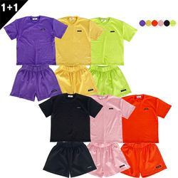 BASIC LOGO T-SHIRT+BASIC LOGO TRACK SHORTS(6color)