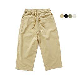 CREASE COTTON CROP PANTS(4color)(unisex)