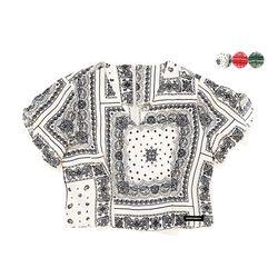 BANDANA CROP SHIRT(3color) 반다나 크롭 셔츠