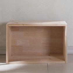 삼나무 원목 공간박스 와이드1단