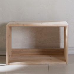삼나무 원목 공간박스 와이드 오픈형 1단