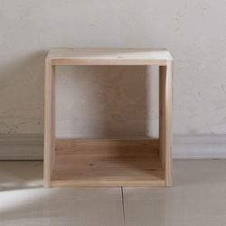 삼나무 원목 공간박스 오픈형 1단