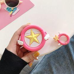 에어팟 케이스 3D 입체 천사별 실리콘 고리 키링세트