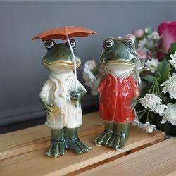 우산 쓴 커플 개구리 (대)