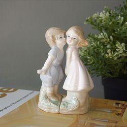 세라믹 미니 뽀뽀 커플