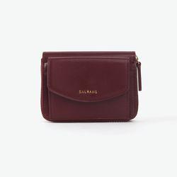 REIMS W016 Zipper poket Wallet Burgundy