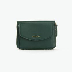 REIMS W016 Zipper poket Wallet Olive Green