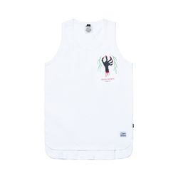 DEMON LONG SLEEVELESS WHITE