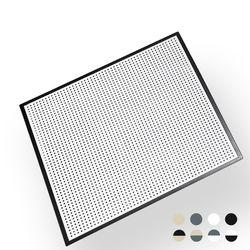 델라카사 스틸 프레임 타공판 (W600 x H600) 흑백 조합