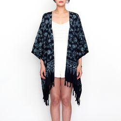 [Fringe Robe] Dahlia - Black