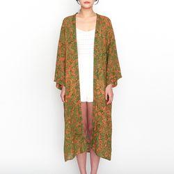 [Maxi Robe] Vintage garden - Green