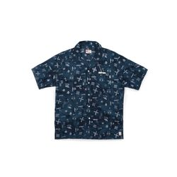 [Matt And Mel x M.Nii] Hand Dyed Aloha Shirts Navy