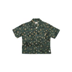 [Matt And Mel x M.Nii] Handcrafted Aloha Shirt Crop