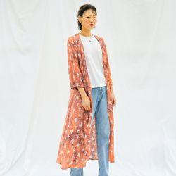[Robe Dress] Palmtree - Peach