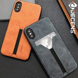 데켄스 M572 아이폰 카드 포켓 가죽 하드 핸드폰 케이