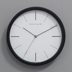 (kmj050)저소음 라인벽시계 305 (블랙)