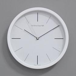 (kmj051)저소음 라인벽시계 305 (화이트)