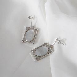 프레임 자개 귀걸이 frame shell earring