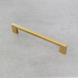 골드 가구손잡이 사각티타늄 골드손잡이 192mm
