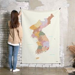 초대형 한국지도 태피스트리.패브릭 포스터