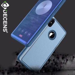 데켄스 M574 아이폰 클리어 뷰 커버 소프트 핸드폰 케