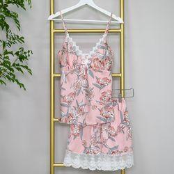 파자마 잠옷 홈웨어 레이스 실크 빅사이즈 (4color)