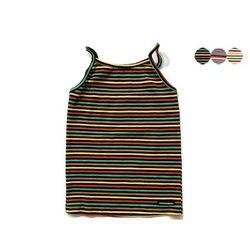 MULTI STRIPE SLEEVELESS TOP(3color)
