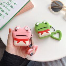 에어팟케이스 개구리 캐릭터 실리콘 커버 고리 키링세