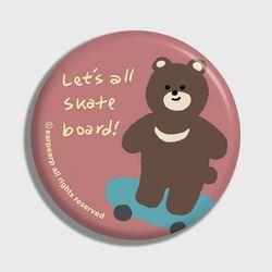 Board bear-dark pink(거울)