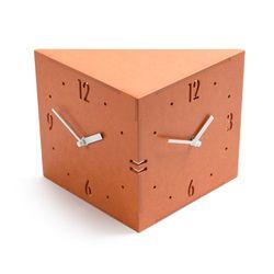 (ktk129)핸드메이드 트윈벽시계(오렌지)