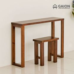 루나 1000 원목 장식 테이블 의자 세트