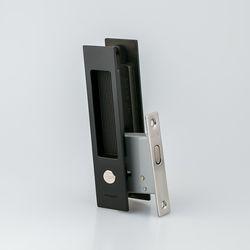 도무스 미닫이문 슬라이딩락 DSL 160 블랙 (욕실용) 동전KEY