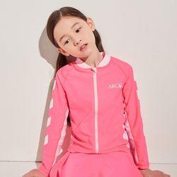키즈 토피노(핑크) 집업래쉬가드