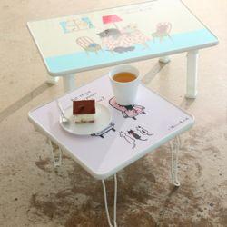 신지가토 키높이(720x480) 접이식 다용도 테이블 밥상