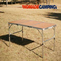노마드  밤부 3 단캠핑테이블 (120x60)캠핑테이블